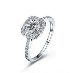 Wholesale Sterling Silver Woman Rings - Top selling 925 Sterling Silver Wedding Party Rings with cubic zirconia Ring Fit Suit Women Pandora fine jewelry wholesale