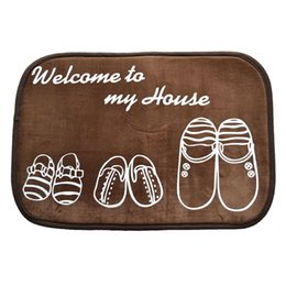 Wholesale Polyester Shaggy Carpets - Home living room carpet entrance mats door mats bathroom kitchen bathroom absorbent non-slip mats