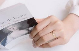 Wholesale k charms - Fashion brand of 18 k gold plated ring Midi gold-plated ring love heart charm ring retail delivery free of charge