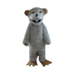 Wholesale Gray Mouse Costume - Gray mouse Mascot Costumes Cartoon Character Adult Sz 100% Real Picture