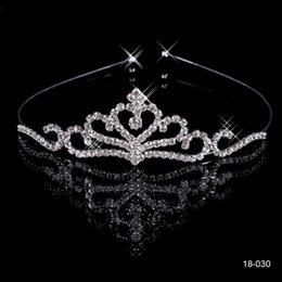 Wholesale Cheap Hair Accessories Free Shipping - Cheap Crowns Popular Beautiful Hair Accessories Comb Crystals Rhinestone Bridal Wedding Party Tiara 4.13 inch*1.18 inch Free Shipping 18030