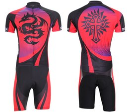 Wholesale Dragon Cycle Set - Summer quick dry men cycling jerseys set breathable male road mountain bike riding clothes dragon totem bicycle clothing shorts bib shorts