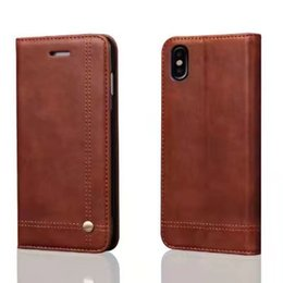 Wholesale I5s Phones - Phone Cases For iphoneX i8 8plus Luxury leather Flip Wallet case for iphone7 7plus 6s plus i5s cover Free DHL shipping