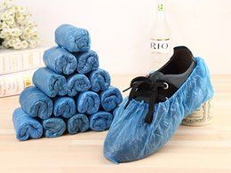 Wholesale Plastic Overshoes - 2016 new 100pcs lot Elastic Disposable Plastic Protective Shoe Covers Carpet Cleaning Overshoe YT0083 salebags free shipping