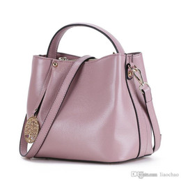 Wholesale Genuine Leather Handbag Free Shipping - Free Shipping Original Genuine Leather Messenger Handbags Women Classic Shoulder Bags black bag