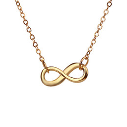 Wholesale Infinite Gifts - Dogeared Infinite Love Pendant necklace Fashion Statement Clavicle Chains Necklace For Women Jewelry Girls Valentine's Day Gift With Card