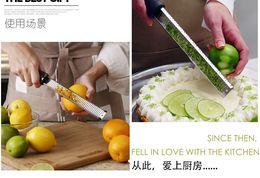 Wholesale Lemon Fruit Peeler - New100pcs lot Multifunction Stainless Steel Lemon Zester Fruit Peeler Cheese Zester Microplane Grater Fruit Vegetable Tools & Kitchen