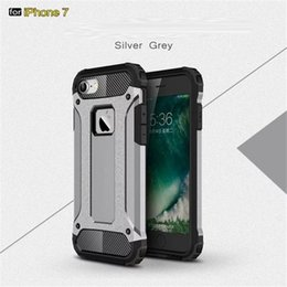 Wholesale Iphone Man Steel Case - For Apple iphone 8 7 6 5 plus 6S Steel armor TPU+PC cell phone cases Protective Cases For men and women