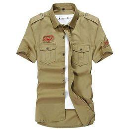 Wholesale Mens Army Dress Shorts - Hot Selling 2018 Fashion Solid Cotton Summer Mens Dress Shirts Short Sleeve Casual Slim Fit Shirt Man
