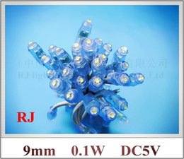 Wholesale Dc5v 9mm Led - LED backlight channel letter LED pixel module perforating light exposed light string 9mm 0.1W DC5V wholesale Fedex free shipping