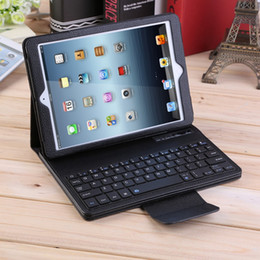 Wholesale Ipad Flip Case Keyboard - 2 in 1 PU Leather Flip Wireless Bluetooth Keyboard Case Cover for Apple iPad Pro iPad 1 2 3 4 5 6 7 Air ipad5 ipad6 12.9