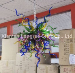 Wholesale Used Chandelier Crystals - C45-China Factory-outlet Blown Glass Chandelier European Style Crystal Hanging Glass Art Chandelier Used Glass Chandelier Lighting