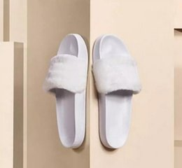 Wholesale Ladies High Quality Slippers - With Original Box & Dustbag New Rihanna summer slippers for women Leadcat Fenty Color Slipper Ladies Indoor High Quality designer slides