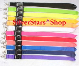 Wholesale Phone Car Keys - Free Shipping Wholesale Multicolor Key Lanyard For CAR Sport LOGO Badge ID Holders Mobile Phone Neck Straps Lots custom logo