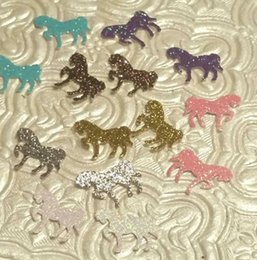 Wholesale Mini Little Ponies - Mini glitter horses ponies confetti baby shower birthday party My Little Pony