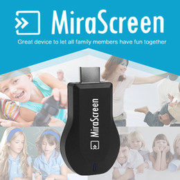Wholesale Usb Wi - MiraScreen OTA TV Stick Dongle Better Than EZCAST EasyCast Wi-Fi Display Receiver DLNA Airplay Miracast Airmirroring Chromecast 1pc