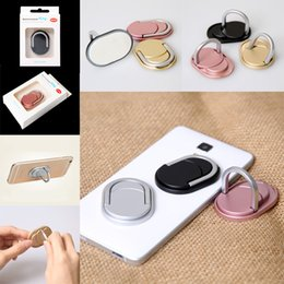 Wholesale Iphone Fashion Retail - Metal Ring Phone Holder with Stand Unique Mix Style Cell Phone Holder Fashion for iPhone 7 Plus Universal All Cellphone with retail package