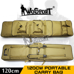 "Wholesale Guns Hunting Bags - Wholesale- 011802 47"" inch 120 cm 1.2m SWAT Tactical Heavy Duty Large Capacity Bag Carrying Case for Rifle Gun Hunting Fishing shooting"