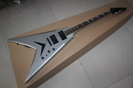 Wholesale White Emg - Top Quality Dean Flying V Laue Muataine Signature EMG Active initiative to Pickups Electric Guitar