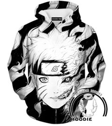 Wholesale Uchiha Hoodie - Newest Fashion Women men's 3D Print Uchiha Clan Symbol Naruto Hoodies hooded sweatshirts