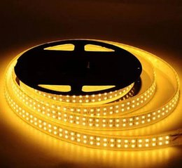 Wholesale Double Rows Waterproof Led Strip - 10 roll 50m SMD 5050 120p m 600 LED DC 12V rgb non- waterproof double row flexible strip light,LED strips, white warm white lighing