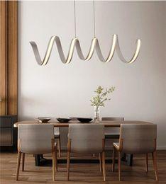Wholesale Hanging Lights For Bedroom - new L600 900 1200mm Modern aluminum LED Chandeliers light for dinning room bar study room hanging chandelier spring lamp 85-265V lampadario