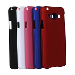 Wholesale Lg Optimus Plastic Cover - Rubberized Matte Hard Plastic Case For Samsung Galaxy A5 A3 LG Optimus F60 Oil Frosted Matt Cell Phone Cover Colorful Skin Luxury 100pcs