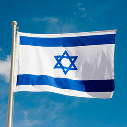 israel flags Promo Codes - Israel Nation Flag 2.9ft x 4.9ft Polyester Banner Flying Custom flag Festival Banner Outdoor Home Decoration 148* 87cm