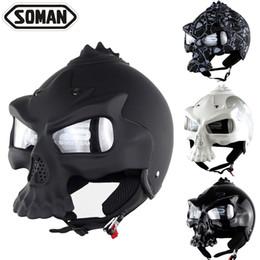 Wholesale Xl Motorcycle Half Helmet - Selling personality skull helmet motorcycle motorcycle half helmet Halley motorcycle electric car helmet soman 689