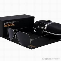 Wholesale Glasses Cases For Sale - New Sunglasses for Men Women Pilot 62mm UV400 Brand Mirror Designer Polarized Glass Driving Sun Glasses with cases Online Sale