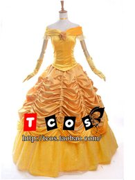 Wholesale Belle Beauty Beast Costumes Adults - Free shipping Adult Princess Dress Beauty and the Beast Belle Costume Cosplay Costumes for Women