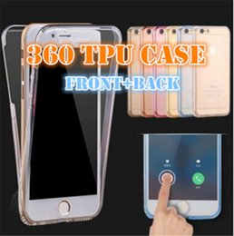 Wholesale Cove Case S4 - 100pcs galaxy note 4 note 5 s4 s5 on 5 on 7 9082 case 360 degrees TPU ultra-thin case for s7 Clear Silicon 2 in 1 front and back cove 360C