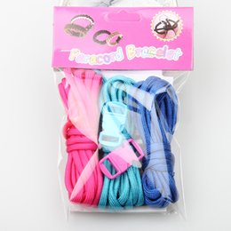 Wholesale Braided Wire Jewelry - 3pcs paracord braided bracelet popular outdoor survival cord diy jewelry finds cord free shipping