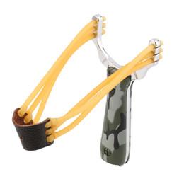 Wholesale Slingshot Hunting Catapult - Outdoor Powerful Steel Catapult Slingshot Marble Hunting Games Sling Shot free shipping