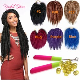Wholesale Synthetic Hair Extensions Burgundy - 2x Havana twist hair extensions 12strands pcs Havana mambo twist crochet hair extensions marley synthetic braiding hair for black women