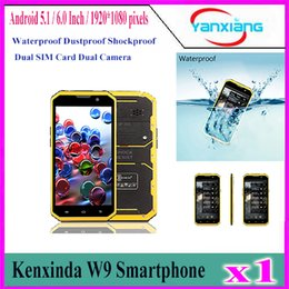 Wholesale Touch 6inch - 1pcs Kenxinda W9 6inch 4G Phablet Octa Core Smartphone Android 5.1 2GB RAM 16GB ROM IP68 (Yellow) YX-W9-03