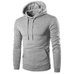 Wholesale Wholesale Sweat Suits Men - Wholesale- New Brand Hoodies Men Sweat Shirt Casual Solid Jacket Coat Top Fleece Hoodie Mens Hip Hop suit Pullover Men's Tracksuits
