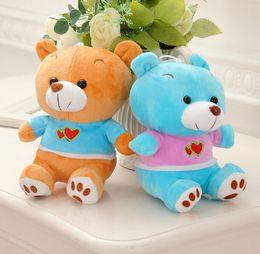 Wholesale Teddy Movie - Hot Sale 18cm 5 Colors Kawaii Small Teddy Bears Plush Soft Toys Teddy Dolls with Random Children Gift