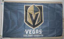Wholesale Flag House - Los Vegas Golden Knights NHL 3'x5' Blue Flag City Country banner flag Custom Football Hockey Baseball any Team House Divided Flag