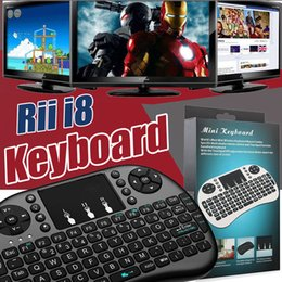 Wholesale Tv Oem Android - Mini Rii i8 Wireless Keyboard 2.4G English Air Mouse Keyboard Remote Control Touchpad For Smart Android TV Box HTPC MXQ Pro M8S X96 Mini PC