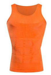 Wholesale Men Underwear Vest Green - Men's Sexy Slimming Tummy Body Shaper Belly Fatty Thermal Slim Lift Underwear Men Sport Vest Shirt Corset Shapewear Reducers Men's BODY