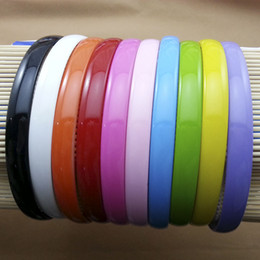 Wholesale Headbands Plastic Color - Wholesale 1.2cm Wide Cute Candy Color hair Accessories girl Hair Jewelry Plastic hair band 12pcs lot alice headband free shipping