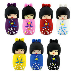 Lovely USB Flash Drives Doll japonais Flash Memory Stick 2 Go 8 Go 16 Go 4 Go 1 Go Pendrive Japanese Girl à partir de fabricateur