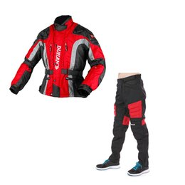 Wholesale Removable Liner Racing Suits for Men Shock Absorption Windproof Coldproof Waterproof Breathable Adjustable Mens Racing Sets