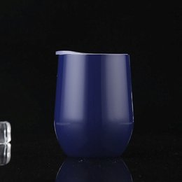Wholesale Whiskey Tumblers - Fashion Bottle 24 Colors New Egg Cup 9oz Thermos Whiskey Glass Stainless Steel Vacuum Insulated 9 Oz Cups Tumbler Outdoor Travel Wine Mugs