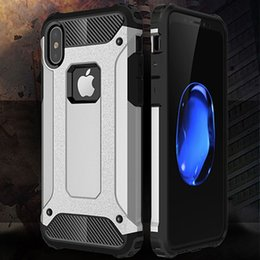 Wholesale Military Phone Covers - Armor Case for iPhone X 8 7 Rugged Soft TPU Phone Back Cover for iPhone7 Plus Slim Military iPhone8 6Plus 7Plus Hybrid