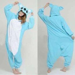 Wholesale Print Onesies - Wholesale-Free shipping Blue Koala Pikachu Panda men Adult Onesie Warm Animal Pajamas Sleepwear New Hot Sale Pyjama fleece