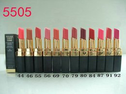 Wholesale New Color Lipstick - Free shipping 12pcs lot Brand new Cosmetics makeup Rouge lipstick lip stick 12 color 3g