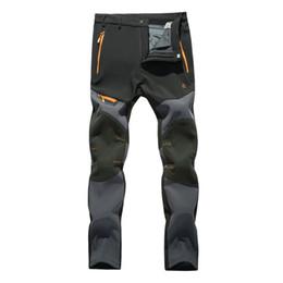 Wholesale Fleece Outdoor Pants - Wholesale-2016 Outdoor Softshell Pants Men Breathable Thermal Waterproof Hiking Trousers Casual Sport Camping Fleece Inside Pants RM043