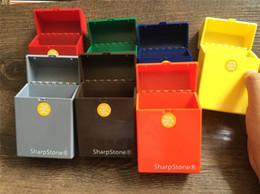 2019 каменный держатель сигарет Бренд класса люкс полный пакет 20 шт. SharpStone сигареты ящик для хранения емкость острый камень портсигар острый камень держатель сигареты скидка каменный держатель сигарет
